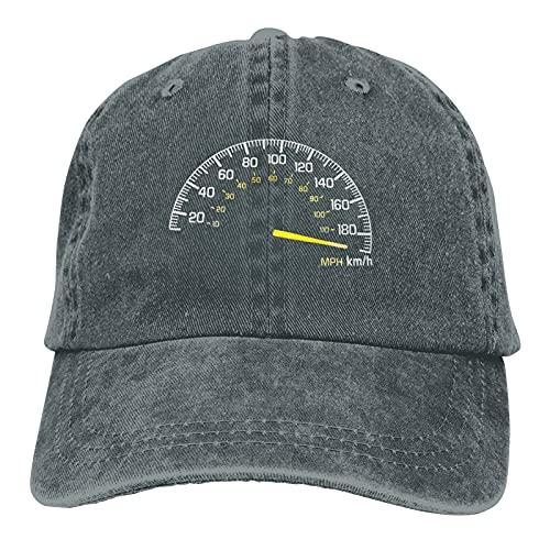 A&P Gorras de béisbol de vaquero para hombre y mujer, velocímetro que va a velocidad máxima