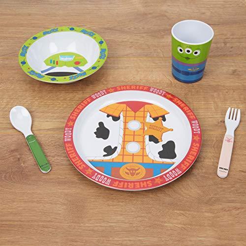 The Gift Experience Disney Toy Story - Juego de desayuno de melamina (4 a 5 piezas)