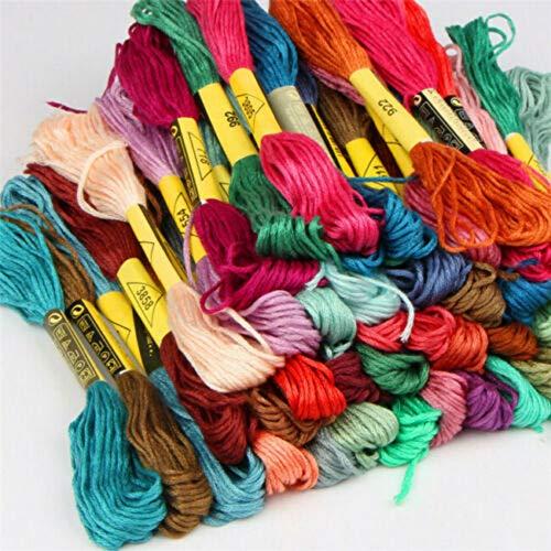 Inicio 50/100 Colores Mano Punto de Cruz Hilo de Coser Madejas de Costura Artesanal Bordado Hilo de Tejer