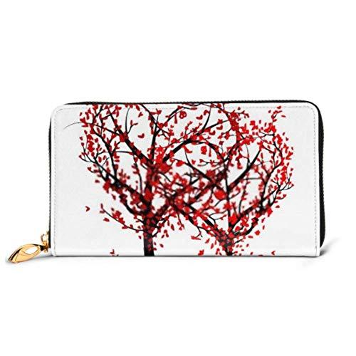 XCNGG Mode Handtasche Reißverschluss Brieftasche Bäume lieben Ihr Design Telefon Kupplung Geldbörse Abendkupplung Blockieren Leder Brieftasche Multi Card Organizer
