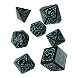 Q Workshop Pathfinder Iron Gods RPG Ornamented Dice Set 7 Polyhedral Pieces