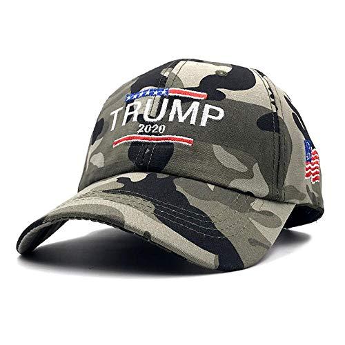 Honkbalpet honkbalcap, geborduurd, verstelbaar, hoeden, sportkleding, Donald Trump, 2020 in landelijke stijl, Amerikaanse stijl, honkbalcap, papa, unisex, Camouflage4