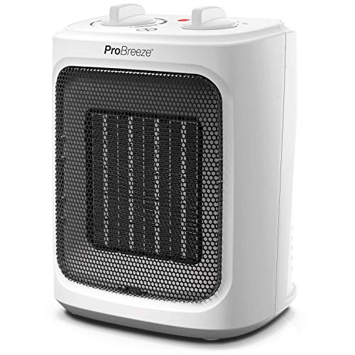 Pro Breeze 2000W Mini Ceramic Fan Heater - 2 Heat Settings & Fan Only Mode...