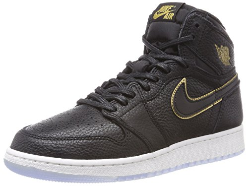 Nike Air Jordan 1 Retro High OG Bg, Zapatillas de Gimnasia Unisex Niños, Negro (Black/Summit White/Metallic Gold 031), 40 EU
