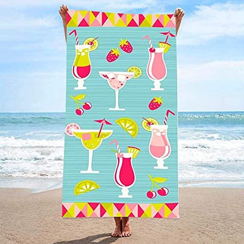 LCK Toalla de baño Suave de Microfibra Moda para Mujer Albornoces de Playa de Secado rápido para Vestir Vestidos de Playa