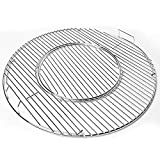 SHINESTAR Grill Grate for Weber 22.5 Inch Charcoal, Kettle, Performer, Heavy-Duty Plated Steel Hinged Cooking Grate, 21.5 x 21.5 Inch, Part# 8835