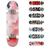 WeSkate Planche à roulettes pour Les débutants, 31 x 8'' Complète Skateboard 7 Plis Double Kick Concave Planche de Skate Anti-Dérapant Roues PU pour Les Enfants Jeunes et Adultes (scarabée)