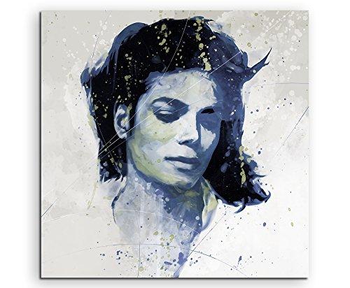 Michael Jackson V Aqua 60x60cm - Splash Art Paul Sinus Wandbild auf Leinwand - Malerei, Kunstbild, Aquarell, Fineartprint