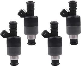 Fuel Injectors ECCPP 4pcs 6 Hole Fuel Injector Kits 17122106 fit for 1998 1999 2000 Chevrolet S10 Cavalier GMC Sonoma 2.2L/1997 1998 1999 2000 Isuzu Hombre 2.2L/1998 1999 Pontiac Sunfire 2.2L,Black