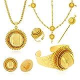 Ethiopian Bridal Jewelry Sets Big Gold Color Hair Jewelry African Jewelry for Ethiopian