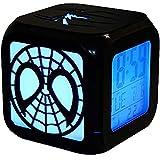 Ap&Exclusive スパイダーマンクリエイティブ3D目覚まし時計LEDナイトライト電子ベッドサイド目覚まし時計(7色)-USB充電 (led)