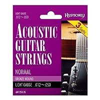 HISTORY AN1253-3S アコースティックギター弦 3セットパック LIGHT (ヒストリー)