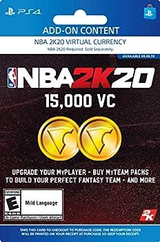 NBA 2K20  15000 VC Pack - [PS4 Digital Code]
