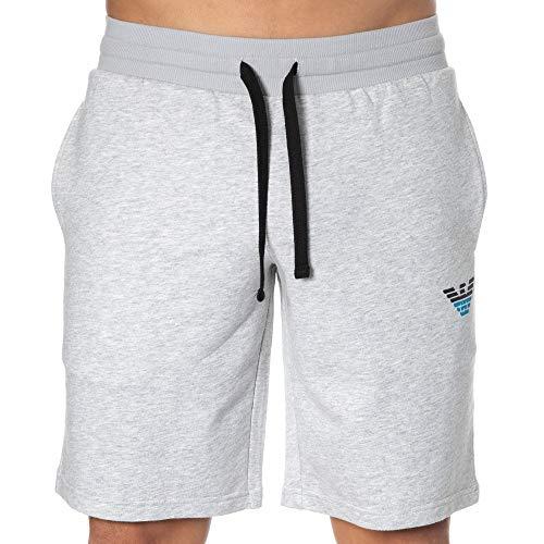 Emporio Armani Underwear Homewear-Iconic Terry Bermuda Pantaloncini, Grigio (Grigio Melange 00048), 56 (Taglia Unica: Medium) Uomo