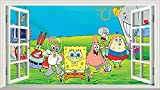 Chicbanners Bob Esponja Squarepants V301 Magic - Adhesivo Decorativo para Pared (1000 mm de Ancho x 600 mm de Profundidad)