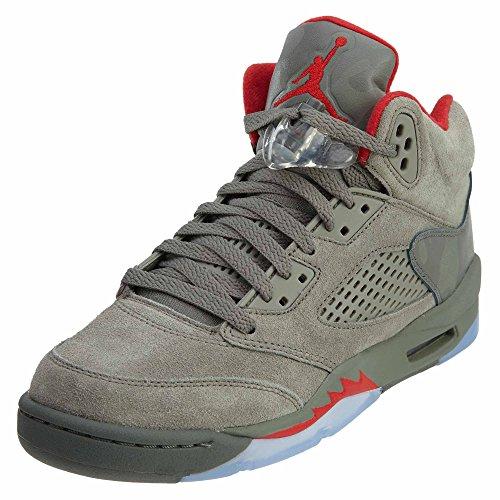 Nike Chaussures Pour Hommes Air Jordan 5 Retro GS en Cuir Suédé Marron Foncé 440888-051