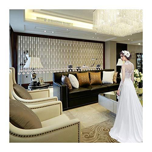 GDMING Crystal kralen gordijn voor deuropeningen/kasten kamer divider wandpaneel vloer tot plafond venster deuropening kantoor woonkamer decoratie, 20 maten