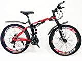 MDS Unlimited CYCLES ROADY 26 inch 21 Shimano Gear Dual Suspension Double Disc Brake Foldable MTB Cycle for Unisex (Black Red ) dual suspension mountain bikes Apr, 2021