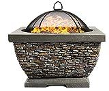 Centurion Supports Fireology Tonteria Brasero et barbecue avec finition pierre écologique