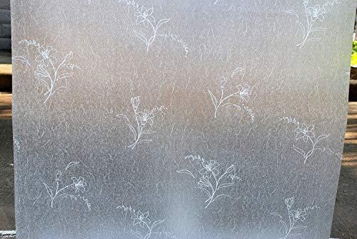 LMKJ Privacidad Mate Grabado Opaco Tinción Dormitorio Familiar Baño Película de Ventana de Vidrio Película para el hogar B100 60x200cm
