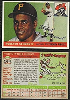 ROBERTO CLEMENTE HOF 1955 Topps Rookie RC #164 Pittsburgh Pirates REPRINT - Baseball Card