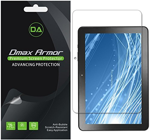 Dmax Armor (3 Pack) for Insignia 10.1 Flex (NS-P10A7100, NS-P10A8100) Screen Protector, Anti Bubble High Definition Clear Shield