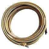 Tibelec 075230 - Cable eléctrico textil plano 3 V 3 m color dorado