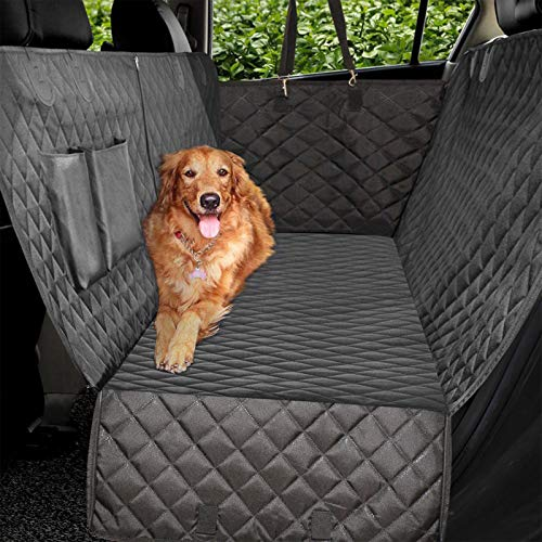 Vailge Extra Large Waterproof Dog Car Seat Covers with Zipper Side Flap