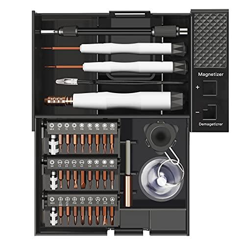 AIRAJ Feinmechanik Schraubendreher Set, 41 in 1 Magnetische Präzisions Werkzeug Set, S2 hochfeste Bits, Reparatur Werkzeug Set für iPhone, Laptop, Tablet, PS4 und Xbox Controllern