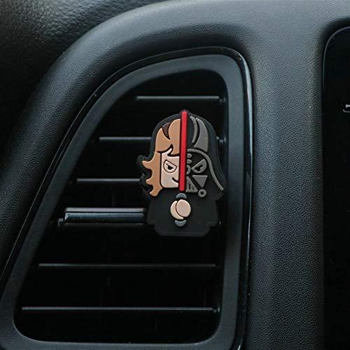 JYKJ Auto Lufterfrischer Cartoon Lufterfrischer Car Styling Perfume The Avengers Marvel-Art for Klimaanlage Vent Outlet Superman Batman Art und Weise kühle (Color Name : Darth Vader)