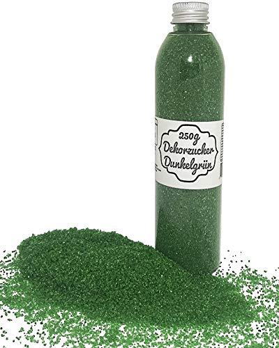bunter Zucker Grün ( Dunkelgrün ) 250g Dekorzucker Glitzerzucker Zuckerwatte