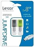 Lexar JumpDrive S50 8GB USB Flash Drive LJDS50-8GBABNL2 - 2 Pack