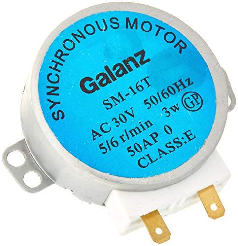 LNIEGE SM-16T AC 30V 3.5/4W 5/6RPM Tocadiscos motor síncrono para horno microondas, gris, 4.2 mm