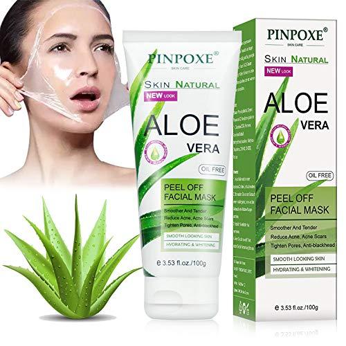 Mitesser Maske, Blackhead Remover Maske, Peel Off Mask, Anti Mitesser Aloe Vera Tiefenreinigung Porenreinige Ölkontrolle für Herren und Damen Anti Aging Face Mask