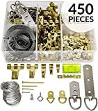 Picture Hanging Kit 450+ Pieces | Hardware for Frames Heavy Duty | Great Assortment Includes:Screws, Nails, D...