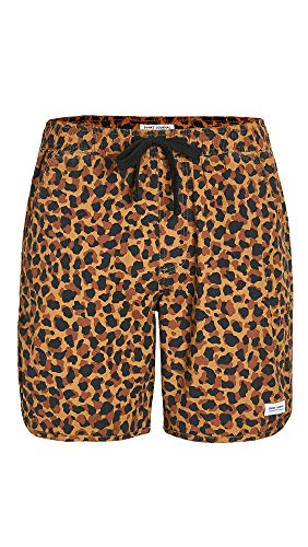 Banks Journal Men's Safari Boardshorts, Camel, Tan, Print, 34