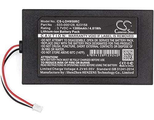 CS-LOH950RC Akku 1300mAh Kompatibel mit [LOGITECH] 915-000257, 915-000260, Elite, Harmony 950 Ersetzt 533-000128, für 623158
