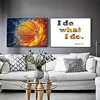 """キャンバス画像私がすること創造性バスケットボールのポスターとプリントアートワーク壁アートリビングルーム寝室家の装飾27.5""""x35.4""""(70x90cm)フレームレス"""