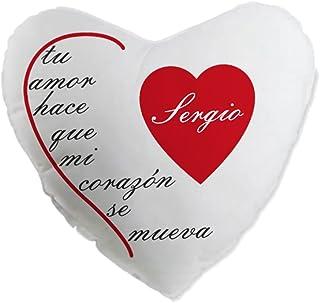 Cojín Personalizado en Forma de corazón, el Regalo más romántico para Aniversario o San Valentín