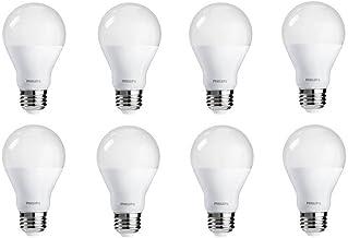 Philips LED Dimmable A19 Frosted Light Bulb: 800-Lumen, 2700-Kelvin, 9.5-Watt (60-Watt Equivalent), E26 Medium Screw Base,...