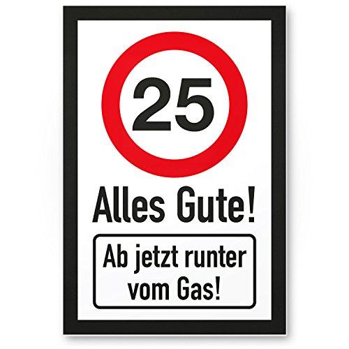 Bedankt! 25 jaar Alles Gute - Runter von Gas - Cadeau 25. Verjaardag, cadeau-idee Verjaardagscadeau vijfentige, Verjaardagsdeco/Party accessoires/verjaardagskaart