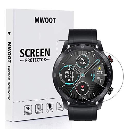 MWOOT Cristal Templado Compatible con Reloj Honor Magic Watch 2 46MM y...