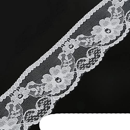 10 yardas / bolsa 16 tama?os de tela de adorno de cinta de encaje blanco para ropa decoraci¨n de fiesta de boda en casa accesorios de artesan¨ªa de bricolaje-blanco 48mm