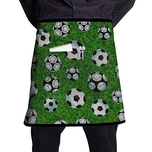 Waist Apron with Pockets Football Half Waist Waitress Server Apron for Restaurant Kitchen Garden 21
