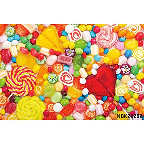 Cotton Candy Bar Lecca-lecca Ciambelle Rosa Compleanno Fotografia Sfondi Fondali fotografici personalizzati per Studio Fotografico A8 7x5ft   2.1x1.5m