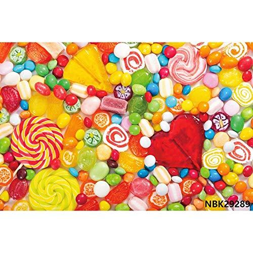 Cotton Candy Bar Lollipop Donuts Pink Birthday Photography Fondos Fondos fotográficos Personalizados para Photo Studio A8 10x7ft / 3x2.2m