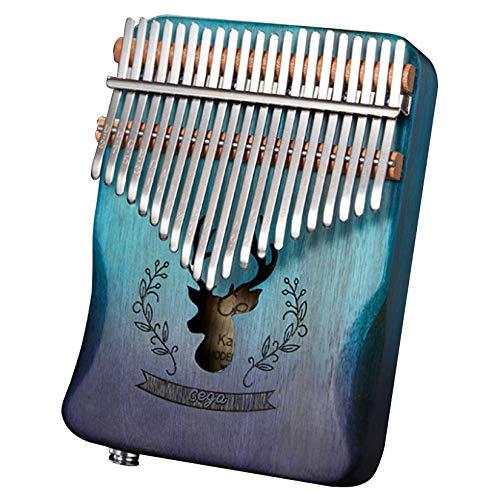 Byrotson Portable Kalimba Thumb Piano 21 Tasten, Kalimba Musikinstrument Geschenke Daumenklavier Mahagoni Holz Kalimba 17 Schlüssel Mbira Marimba mit Tuning Hammer für Erwachsene/Kinder,F 21 Keys
