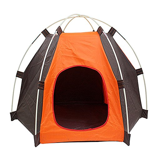 LRWEY Beach Tent & Festival Shelter With Poles & Pegs Adult & Childrens SPF Sun Screen Rain & Wind Break Fishing Camping & Garden Play Pet Tent 53 X69 X53 CM