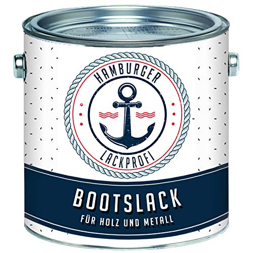 Hamburger Lack-Profi Bootslack GLÄNZEND für Holz und Metall farblos klar Yachtlack Yachtfarbe Bootsfarbe (5 L)