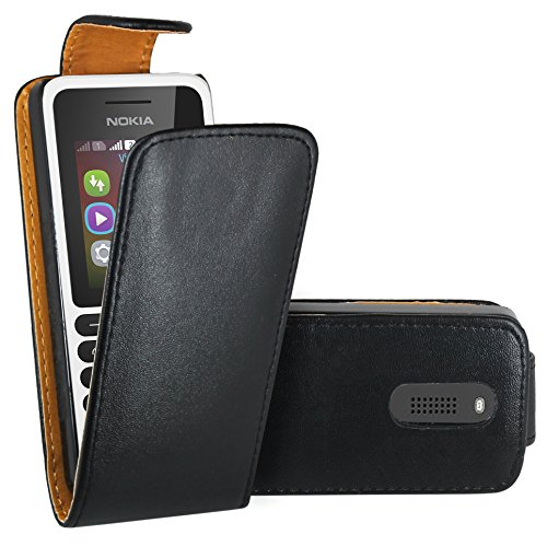 Nokia 130 Custodia Cover Case, FoneExpert® Flip Case Custodia Pelle accessori Protective A Libro Cover per Nokia 130